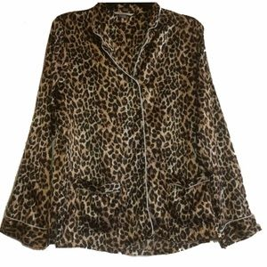 Victoria's Secret Cheetah Pajama Shirt